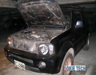 2000 2009 Suzuki Jimny JB23 JB33 Mini SUV Black Carbon Fiber Hood