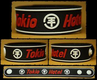 tokio hotel rubber bracelet wristband humanoid white from thailand