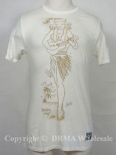 Authentic SAILOR JERRY Tattoo Hula Girl Slim Fit T Shirt S M L XL XXL