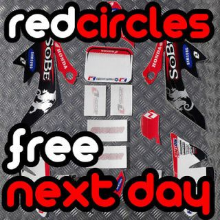 SOBE CRF PIT DIRT BIKE PLASTICS FAIRING STICKERS KIT SET 110cc 125cc