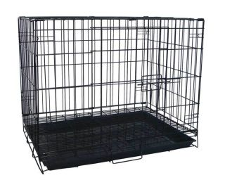 New 24 Folding Dog Cat Kennel Cage Crate With Bottom Grate   SA24