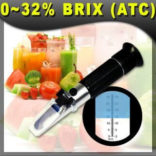 brix refractometer 0 32 % atc fruit juice wine new