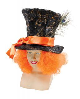 mad hatter hat hair crazy clown fancy dress time left $ 10 42 buy it