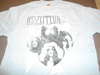 LED ZEPPELIN 4 Faces on blue distressed T Shirt **NEW music band tour