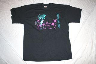 New Joe Satriani  Neon Design 2004 Tour X Large Black T shirt