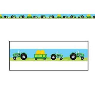 Party tape banner birthday decorations farm themed John Deere