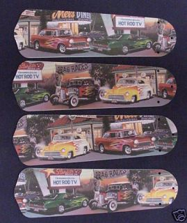 new hot rod cars diner 42 ceiling fan blades only