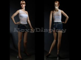 Mannequin Manikin Plastic Realistic Display Head Turns Dress Form PS