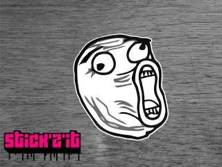 LOL GUY big laugh looool sticker decal JDM EURO VAG style Funny meme