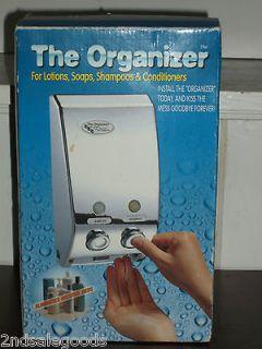 The Organizer by Double H   Bathroom Liquid Dispenser Dual Liquid Pump