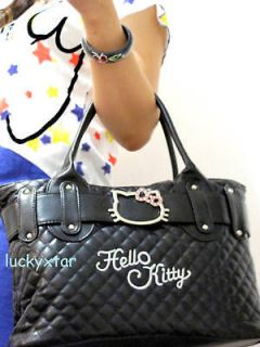 hello kitty black leather like tote bag handbag purse