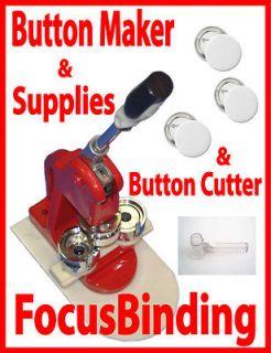 New 3 (75mm) Button Maker Press Machine+Circle Cutter+Free 100 sets