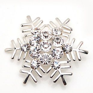 silver snowflake brooch in Fashion Jewelry