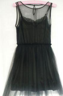 romeo juliet couture rodarte black tulle net dress m