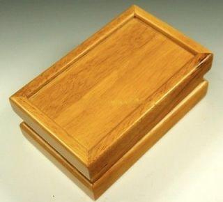 Premium Quality Oak Wood Pollen Kief Shaker Box & Mirror Tray 8 x 5