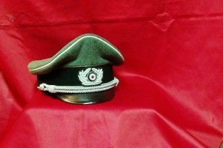 newly listed german army officer s crusher hat german made