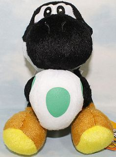 listed 1X Super Mario Bros Sitting Yoshi 7 plush toy doll Black FF