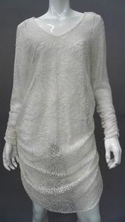 Ladies Womens M Sheer Tunic Above Knee Casual Dress Willow Ivory Lace
