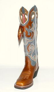 Womens Tony Lama RR2010L Copper Sunburst Buckeroo Western Boots 3R