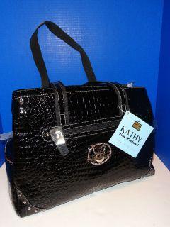 299 KATHY VAN ZEELAND Laptop Diaper Bag CarryOn Black Tote Luggage