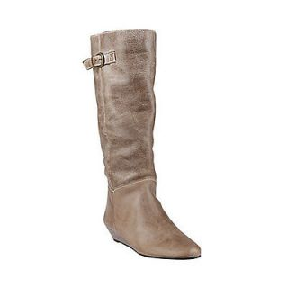 Steven Steve Madden Intyce Stone Leather Riding Boot Size 10