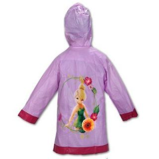 Disney Fairies Tinkerbell Purple Girls Rain Slicker Coat. DFR306654