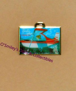 BARBIE GOES TRAVELING CARRYING CASE Airplane PIN 2012 NBDC Convention