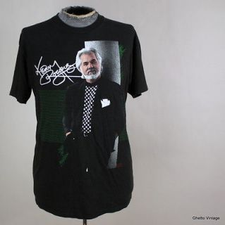 Vtg 80s KENNY ROGERS 1988 Tour Concert t shirt LARGE Made In USA