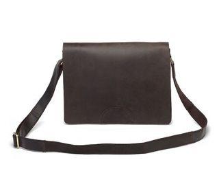 Vintage Style Leather Messenger Bag Notebook Case Flap Over Mailbag