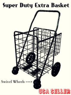 Folding Shopping Cart Swivel Rotating Wheels Extra Basket Laundry together with B0000UZ58C besides Wire Shopping Cart as well Fleece Slipper Patterns as well Shopping Cart Wheels. on heavy duty jumbo folding shopping cart