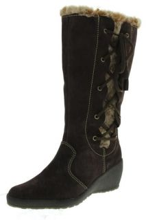 London Fog NEW Lauren Brown Leather Lace Up Waterproof Insulated Boots