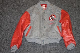 Disney Mickey Mouse Club Leather Wool Jacket Alison Size 12 14 Kids
