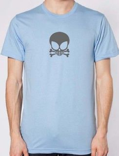 Alien Skull Cross Bones American Apparel T Shirt Paul 2001 NASA