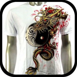 Artful Couture T Shirt Tattoo Rock AW55 Sz XXL 2XL Art Graffiti Dragon