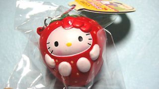 Hello Kitty Strawberry SQUISHY squeeze toy strap mascot phone food