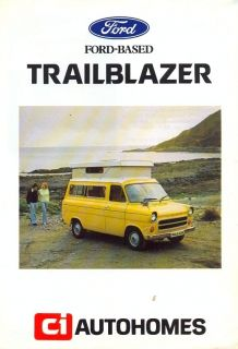 ford transit ci trailblazer camper van sales brochure from united