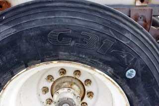 semi truck tires used but with good tread various brands