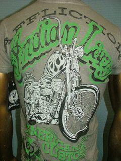 American Customs INDIAN LARRY Motorcycle BIKER UFC T SHIRT MEN XL