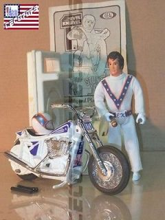 vintage evel knievel stunt cycle set variation one Ideal 1974
