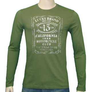 lucky brand jeans whiskey label t shirt green one day