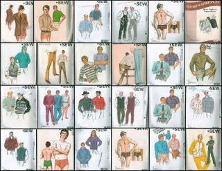 kwik sew mens clothes sewing pattern