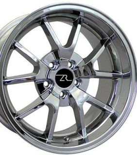 Chrome Mustang ® FR500 Wheels 18x9 & 18x10 Rims 18 Inch Deep Dish