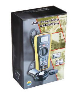 Light Solar Energy Sunlight Power Meter with DMM Multi meter 2in1
