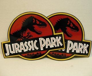 Newly listed JURASSIC PARK ~ 2 MAGNETIC CAR DOOR SIGNS Props Movie