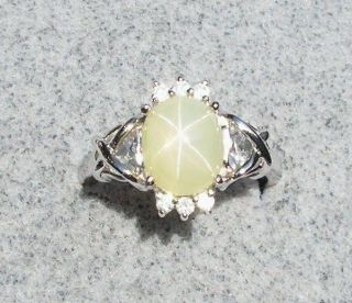 VINTAGE SIGNED LEMON YELLOW LINDE LINDY STAR SAPPHIRE CREATED RP SS