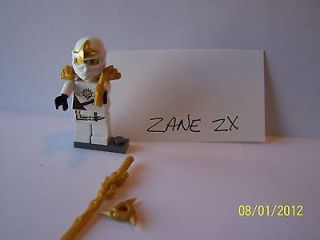 lego ninjago minifigure white zane zx with weapons armor time