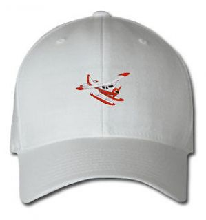 PONTOON PLANE AIRCRAFT SPORTS SPORT EMBROIDERED EMBROIDERY HAT CAP NEW