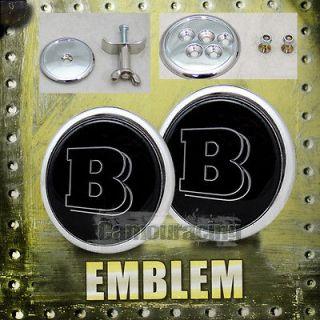 Mercedes Benz Brabus Front/Rear Hood/Trunk Emblem Badge Logo 43mm/62mm