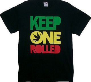 ROLLED Funny Weed Ganja Jamaica Rasta New Size Medium T Shirt Nice LOL