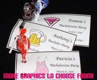 Bachelorette Bachelor Party ~ Lollipop Holder Party Favor Tags